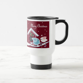 Cute Christmas mistletoe kissing birds gifts Coffee Mug