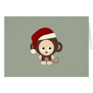 Cute Christmas Monkey Card