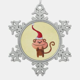 Cute Christmas Monkey Ornament