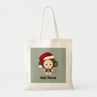 Cute Christmas Monkey Tote Bag