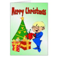 Cute Christmas Morning Kid Card