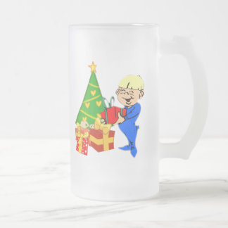 Cute Christmas Morning Kid Mug
