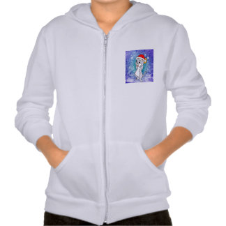 Cute christmas mouse hooded sweatshirts