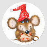 Cute Christmas Mouse Stickers