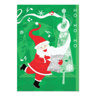Cute Christmas, Music Santa Claus Party Invitation