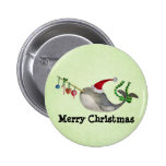 Cute Christmas Narwhal 2 Inch Round Button
