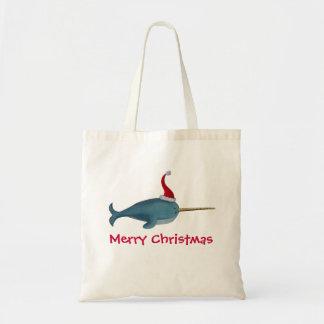 Cute Christmas Narwhal Tote Bag