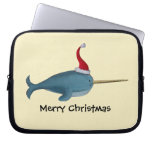 Cute Christmas Narwhal Computer Sleeves
