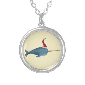 Cute Christmas Narwhal Pendant