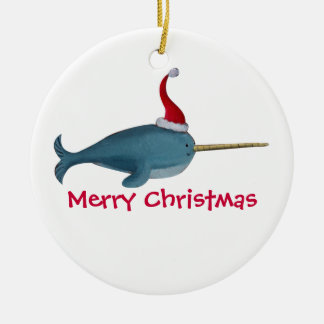 Cute Christmas Narwhal Christmas Ornaments