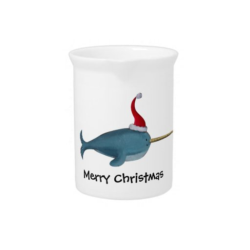 Cute Christmas Narwhal Pitchers