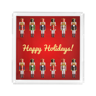 Cute Christmas Nutcracker Soldiers Serving Tray