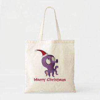 Cute Christmas Octopus Tote Bag