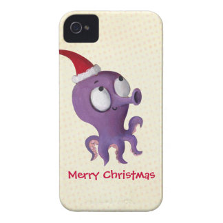 Cute Christmas Octopus iPhone 4 Case-Mate Cases