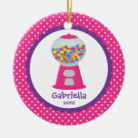 Cute Christmas Ornament PINK Gumballs