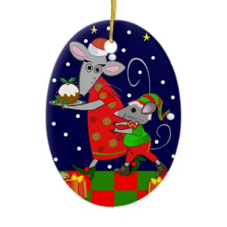 Cute Christmas ornament with Mice ornament