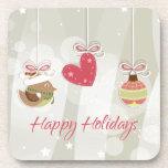 Cute Christmas Ornaments Beverage Coasters