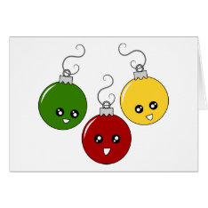 Cute Christmas Ornaments Card at Zazzle