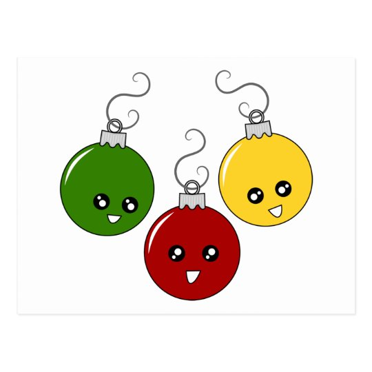 Cute Christmas Ornaments Postcard