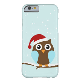 Cute Christmas Owl Barely There iPhone 6 Case