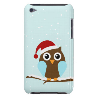 Cute Christmas Owl iPod Case-Mate Cases