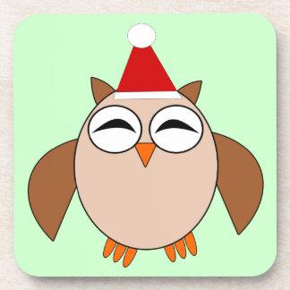 Cute Christmas Owl Coaster