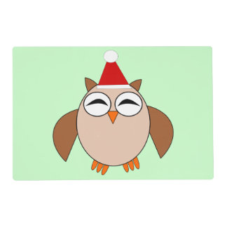 Cute Christmas Owl Customizable Paper Placemat