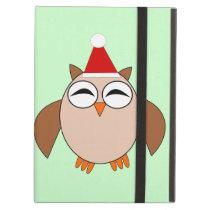 Cute Christmas Owl iPad Case