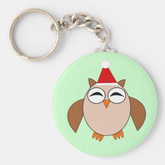 Cute Christmas Owl Keychain