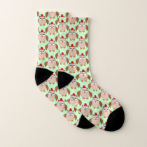 Cute Christmas Owl Patterned Socks