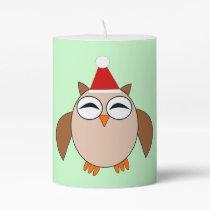 Cute Christmas Owl Pillar Candle