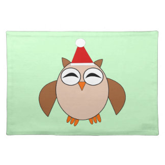 Cute Christmas Owl Placemat