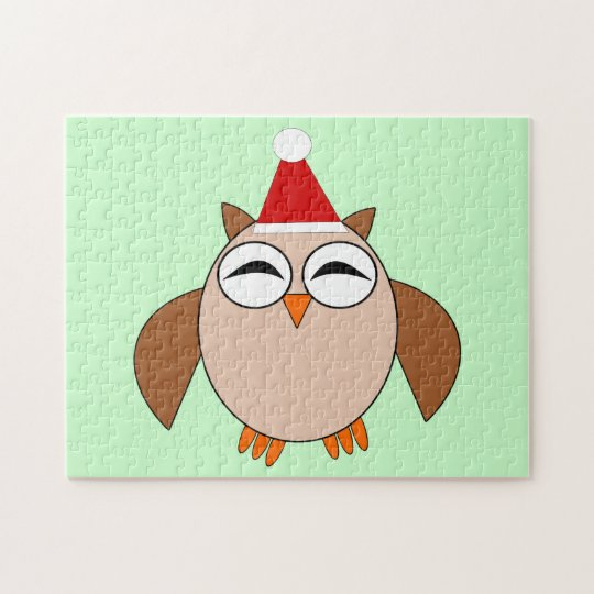 Cute Christmas Owl Puzzle