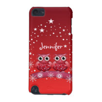 Cute Christmas Owls & Name iPod Touch 5G Case