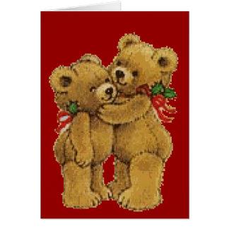 Cute Christmas Pair Greeting Card