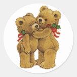 Cute Christmas Pair Classic Round Sticker