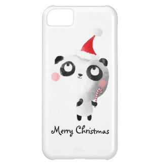Cute Christmas Panda Bear iPhone 5C Cover