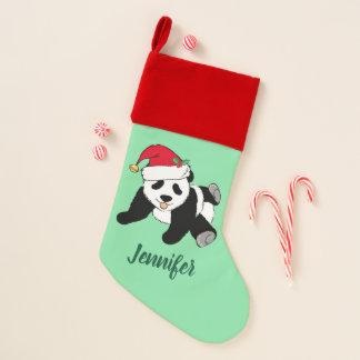 Cute Christmas Panda Bear Christmas Stocking