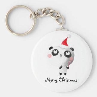 Cute Christmas Panda Bear Keychain