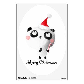 Cute Christmas Panda Bear Wall Sticker