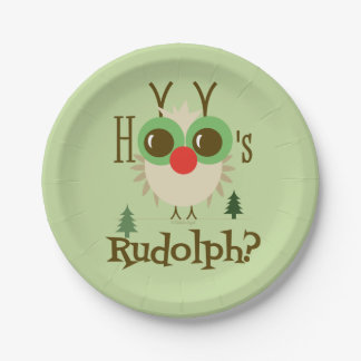 Cute Christmas Paper Plates Owl Holidays