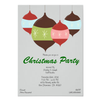 CUTE Christmas Party Hanging Ornaments Holiday Card