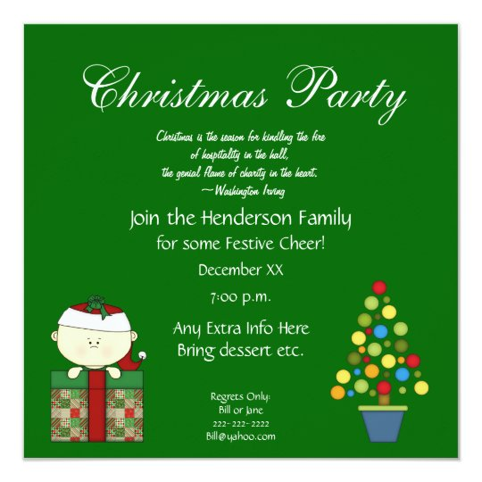 Cute Christmas Party Invitation With Quote Invitation