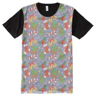 Cute Christmas Pattern All-Over-Print T-Shirt