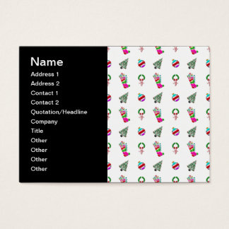 Cute Christmas Pattern Business Card