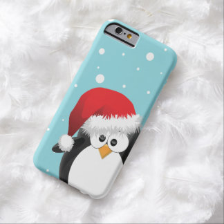 Cute Christmas Penguin Barely There iPhone 6 Case