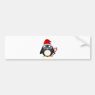 Cute Christmas Penguin Bumper Sticker