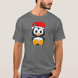 Cute Christmas Penguin Cartoon T-Shirt
