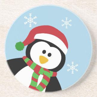 Cute Christmas Penguin Coaster