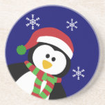 Cute Christmas Penguin Coaster